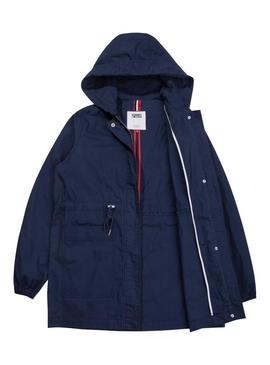 Parka Tommy Jeans Hooded Azul Mujer