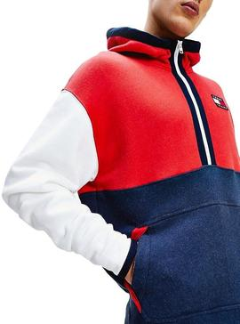 Sudadera Tommy Jeans Color Hoodie Hombre