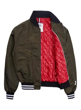 Bomber Tommy Jeans Signature Verde Mujer