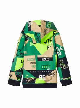 Sudadera Name It Bobal Verde Niña