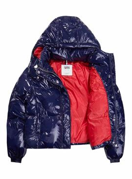 Cazadora Tommy Jeans Puff Azul Mujer