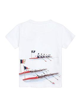 Camiseta Mayoral Rowing Season Blanco Niño