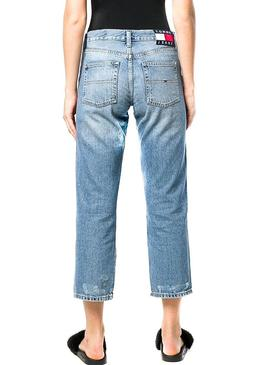 Pantalón Vaquero Tommy Jeans Girfriend Crop Mujer