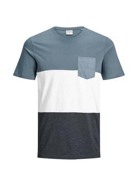 Camiseta Jack and Jones Coeagle Azul Hombre