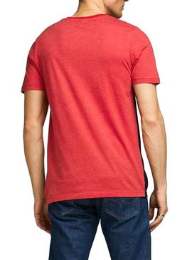 Camiseta Jack and Jones Coeagle Rojo Hombre