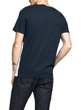 Camiseta Jack and Jones Coeagle Marino Hombre