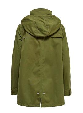 Parka Only Awesome Verde para Mujer