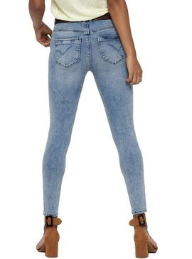 Pantalon Vaquero Only Paola Light Blue Mujer