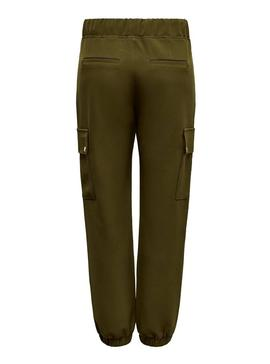 Pantalon Only Glowing Verde Mujer