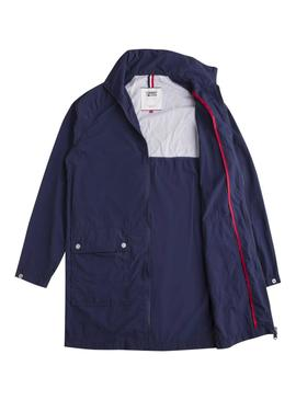 Parka Tommy Jeans Essential Azul Mujer