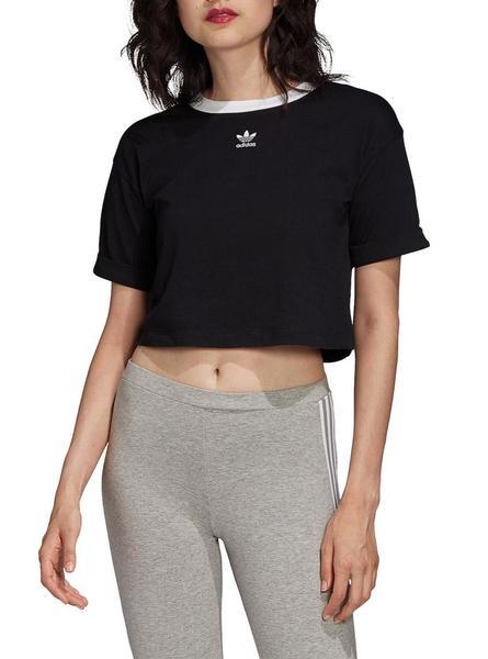 imagina Estribillo Júnior  Top Adidas Crop Negro Mujer