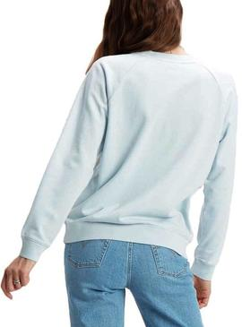 Sudadera Levis Relaxed Crew Azul Mujer