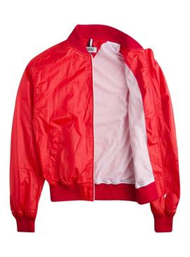 Bomber Tommy Jeans Recycled Rojo Mujer