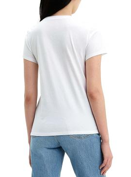 Camiseta Levis Floral Blanco Mujer