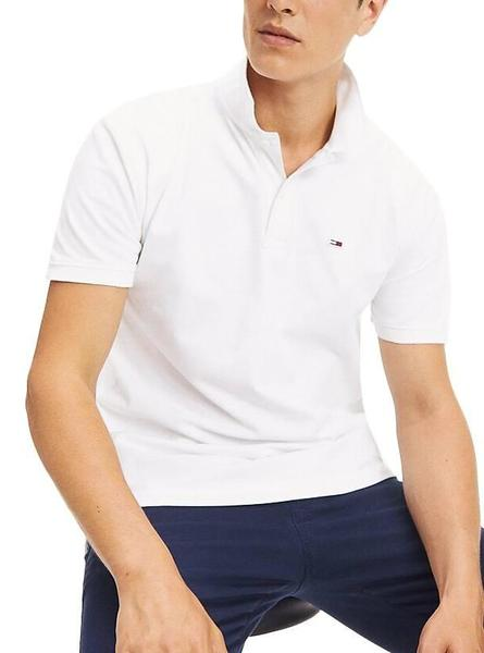 Polo Tommy Jeans Classic Solid Blanco Hombre
