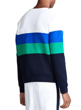 Sudadera Polo Ralph Lauren Colorblock Blanco
