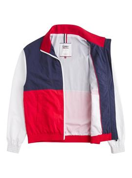 Cazadora Tommy Jeans Color Block Mujer