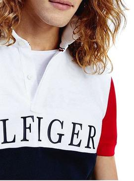 Polo Tommy Hilfiger Colorblock Marino Hombre
