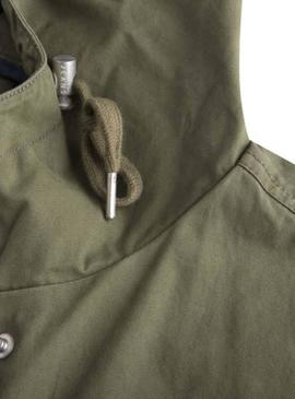 Cazadora Tommy Jeans Essential Hooded Verde