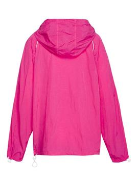 Cazadora Tommy Jeans Piping Fucsia Mujer