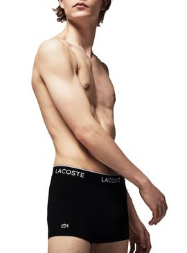 Pack 3 Boxers Lacoste Casual Negro Para Hombre
