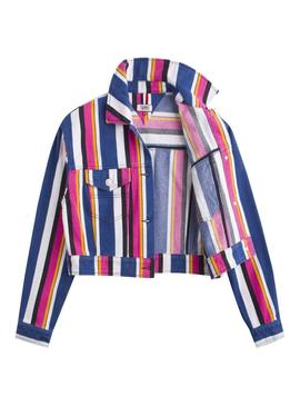 Cazadora Vaquera Tommy Jeans Stripe Multi Mujer