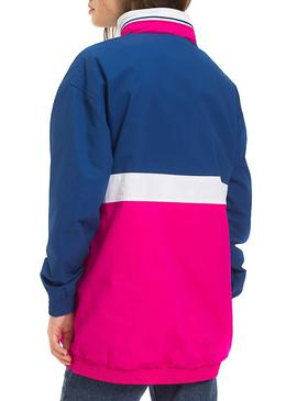 Canguro Tommy Jeans Colorblock Rosa Mujer