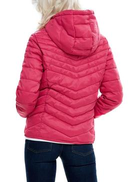Chaqueta Only Demi Hooded Rosa Mujer