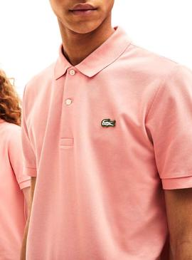 Polo Lacoste Live Unisex Stretch Rosa