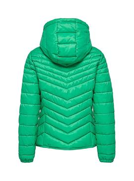 Chaqueta Only Demi Hooded Verde Mujer