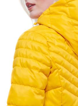 Chaqueta Only Demi Hooded Amarillo Mujer