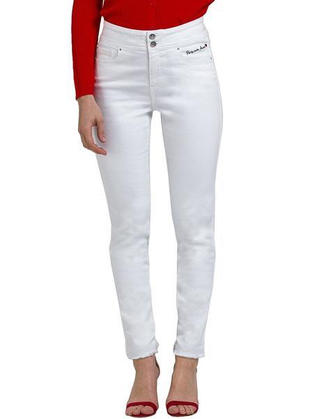 Pantalon Naf Naf Paris Blanco Para Mujer