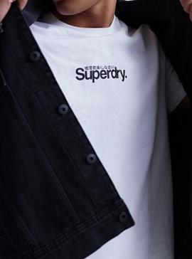 Camiseta Superdry Core Essential Blanco Hombre