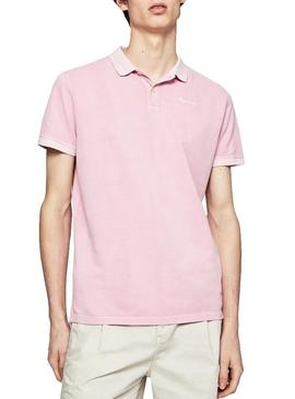 Polo Pepe Jeans Vicent Rosa para Hombre