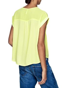 Blusa Pepe Jeans Erin Amarillo Mujer