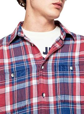 Camisa Pepe Jeans Stanley Rojo para Hombre