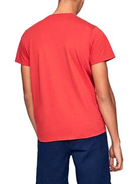 Camiseta Pepe Jeans Earnest Rojo para Hombre
