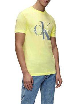 Camiseta Calvin Klein Vegetable Monogram Amarillo