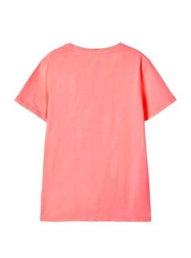 Camiseta Name It Fike Coral para Niño