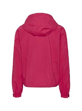 Cortavientos Tommy Jeans Branded Rosa Para Mujer