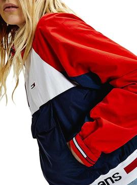 Cortavientos Tommy Jeans Colorblock Logo Mujer