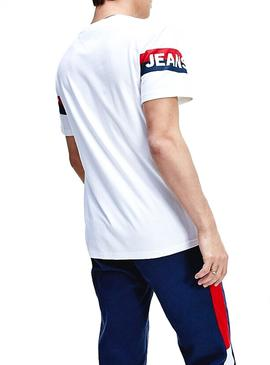 Camiseta Tommy Jeans Double Stripe Blanco