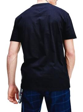Camiseta Tommy Jeans Embroidered Negro para Hombre