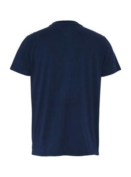 Camiseta Tommy Jeans Vertical Logo Azul