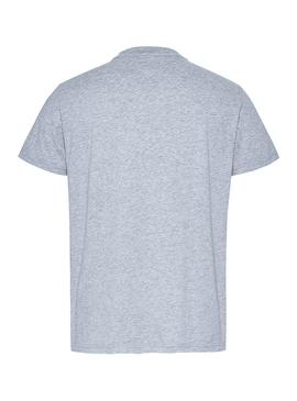 Camiseta Tommy Jeans Vertical Logo Gris