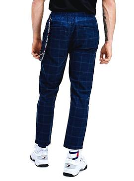 Pantalon Tommy Jeans Scanton Checked Azul