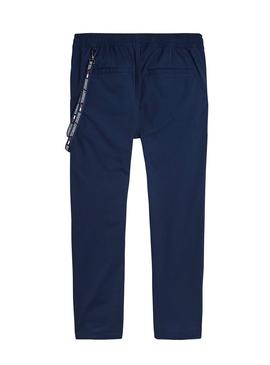 Pantalon Tommy Jeans Solid Track Azul para Hombre