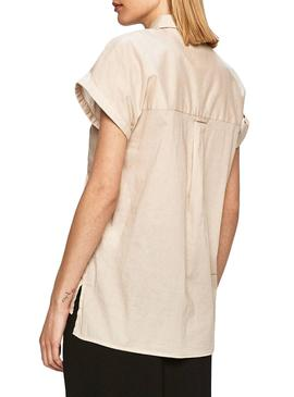 Camisa Pepe Jeans Ashley Beige para Mujer