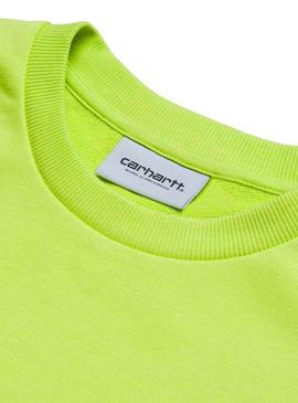Script Embroidery Sweat Lime/Black