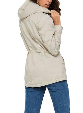 Parka Only New Lorca Spring Beige Para Mujer